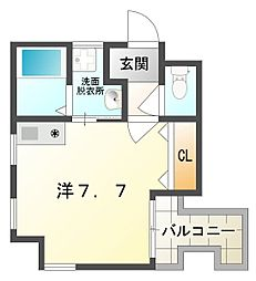 サンティール大和田[4階]の間取り