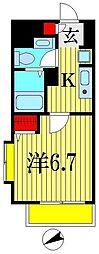 ミリアビタNo.15[6階]の間取り