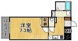 福岡県北九州市門司区中町の賃貸マンションの間取り