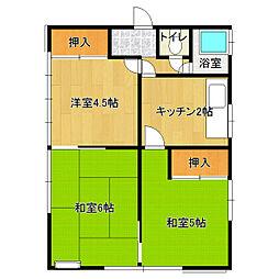 [一戸建] 茨城県土浦市真鍋6丁目 の賃貸【/】の間取り