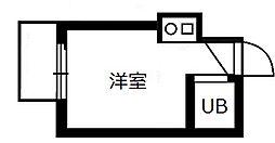 東京都北区西が丘2丁目の賃貸アパートの間取り