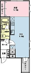 千葉県浦安市北栄2の賃貸アパートの間取り