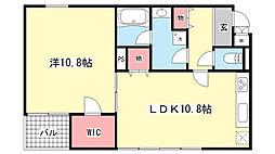 岡本Rd12[2階]の間取り