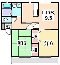 ヴェルドミールN[2階]の間取り