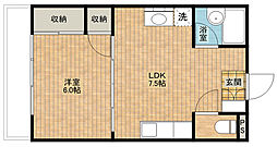 清風マンション[3階]の間取り
