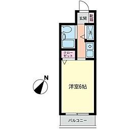 神奈川県横浜市泉区中田南1丁目の賃貸マンションの間取り