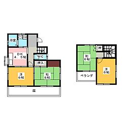 [一戸建] 静岡県浜松市中区曳馬5丁目 の賃貸【/】の間取り