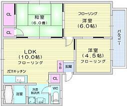 ベルゾーネ木町B棟 1階3LDKの間取り