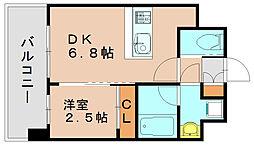 ラ・エスパシオ箱崎[6階]の間取り