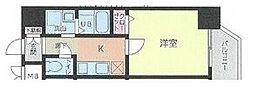 名鉄名古屋本線 金山駅 徒歩7分の賃貸マンション 3階1Kの間取り