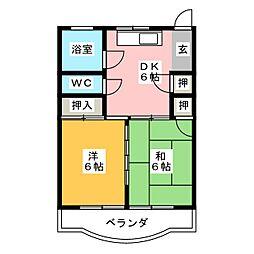 水野マンション[5階]の間取り