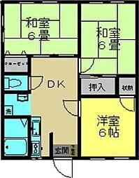 サンコーポ井野[1階]の間取り