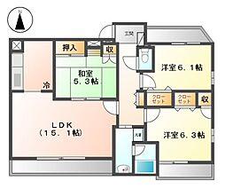 グランドールHARA(グランドールハラ)[2階]の間取り