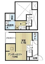 愛知県名古屋市中村区中村本町1丁目の賃貸アパートの間取り