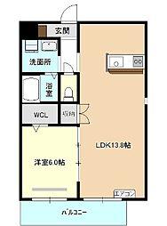 仮称)四軒家マンション[6階]の間取り