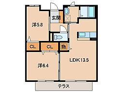 和歌山県和歌山市和歌浦西1丁目の賃貸アパートの間取り