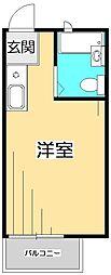 ブライトハイム国分寺[2階]の間取り