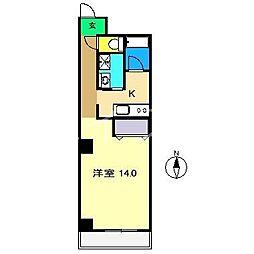 金子橋マンション[3階]の間取り