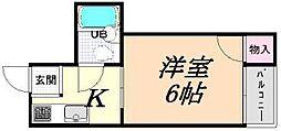 ハイツ正覚寺[406号室]の間取り