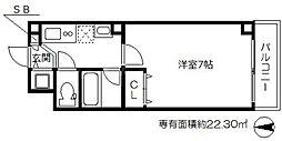 ディアコート三貴天神橋[3階]の間取り