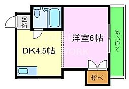 青葉マンション[205号室号室]の間取り