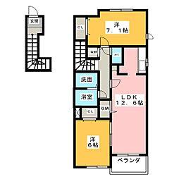 ベラージオ A[2階]の間取り