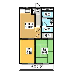 セントラルパークB[2階]の間取り