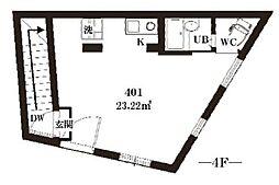 スリジエ哲学堂[4階]の間取り