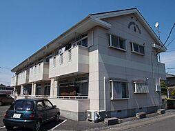 栃木県宇都宮市江曽島5丁目の賃貸アパートの外観