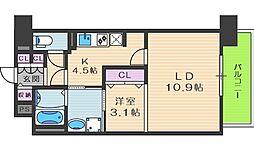 プリマクラッセ[4階]の間取り