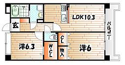 ボンボニエールアロア[4階]の間取り