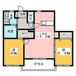 (仮)中川区中郷メゾン[1階]の間取り