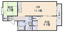 セジュールTAKATA(中須)[1階]の間取り