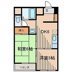 東京都町田市原町田2丁目の賃貸マンションの間取り