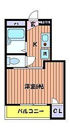 立川NSマンション[2階]の間取り