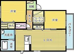 メゾンドサンパティーク C棟[1階]の間取り