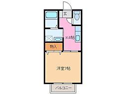 ハイツ大塚[2階]の間取り
