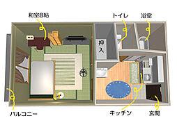 コーポ斎藤B[201号室]の間取り