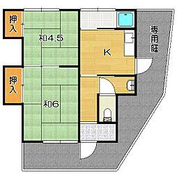 [テラスハウス] 大阪府茨木市田中町 の賃貸【/】の間取り