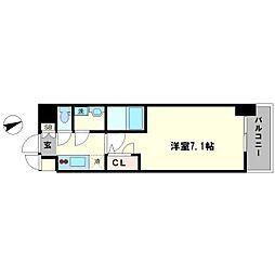 S-RESIDENCE大阪九条North 9階1Kの間取り