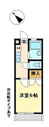 兵庫県神崎郡福崎町福崎新の賃貸アパートの間取り