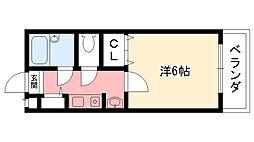 ステラハウス4-100[2階]の間取り