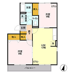 メゾンタムラ D[1階]の間取り