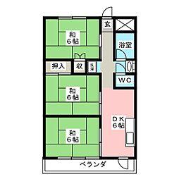 沼田ハイツ[2階]の間取り