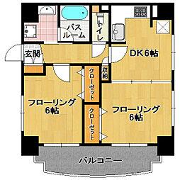 ロマネスク桜坂第2[5階]の間取り