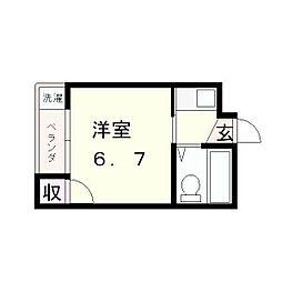 滋賀県近江八幡市若葉町の賃貸アパートの間取り