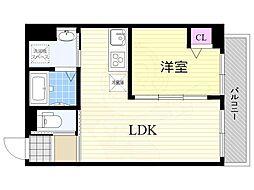 Luxe天六 5階1LDKの間取り