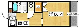 ベルヴェデーレ西牧野[2階]の間取り