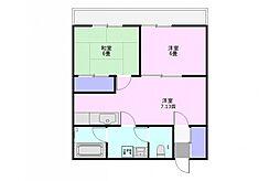 第2高沢マンション[2階]の間取り