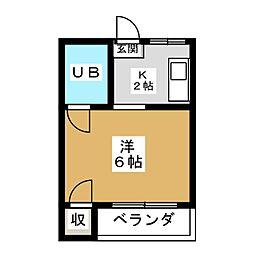 ノーブル伏見[3階]の間取り